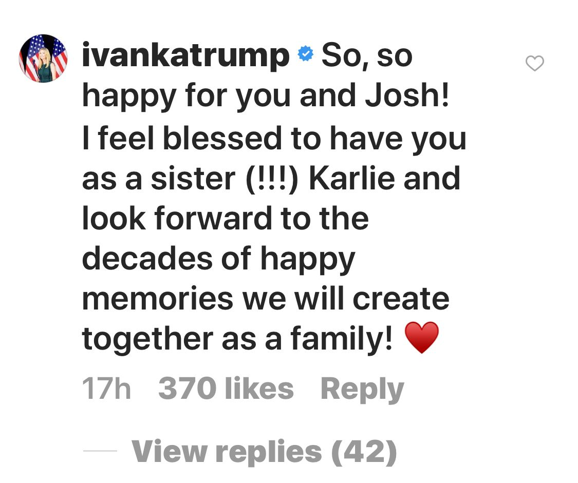 Ivanka Trump Celebrates Karlie Kloss' Engagement By Calling Her 'Sister'