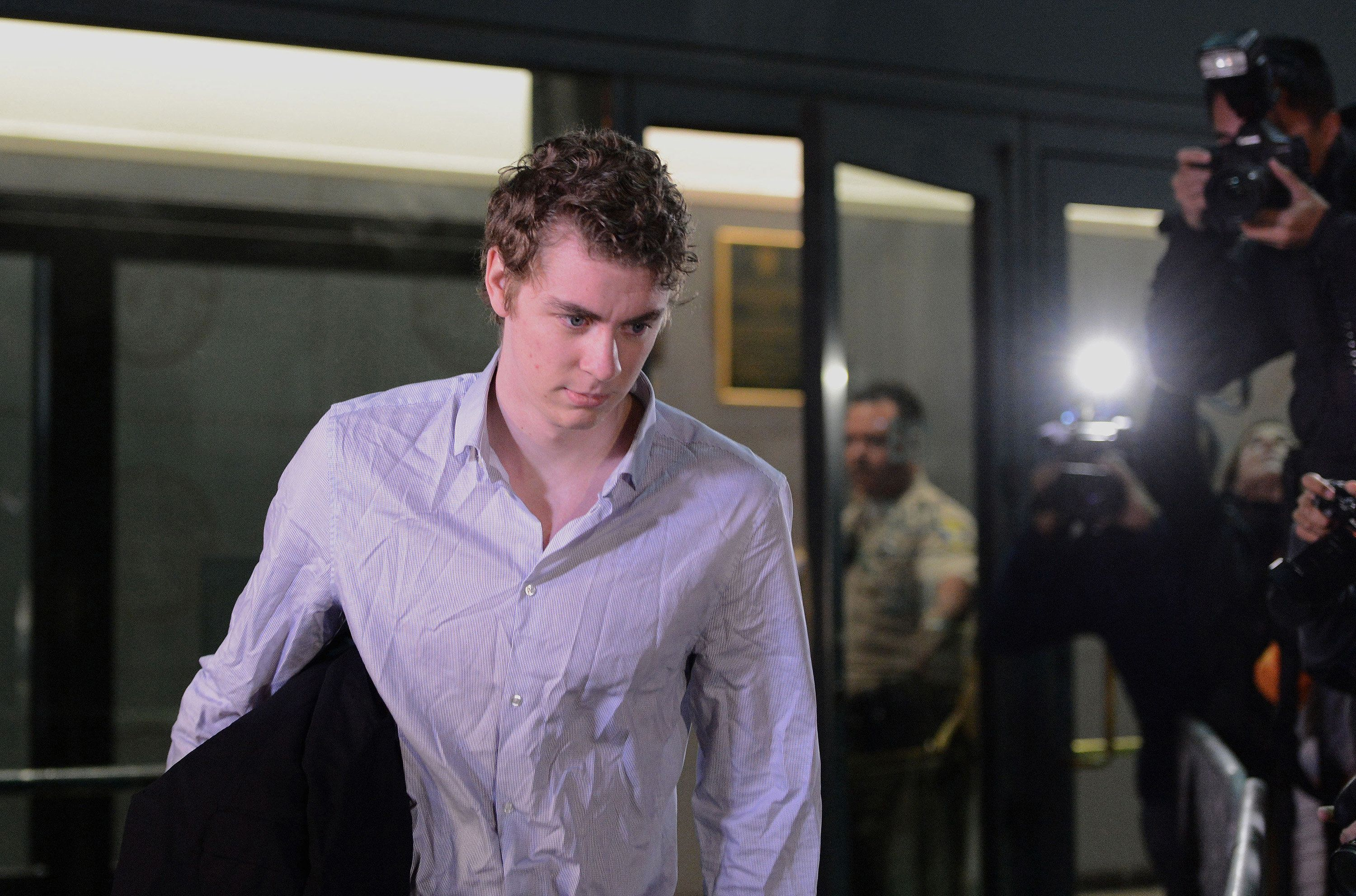Brock Turner leaves the Santa Clara County jail on Sept. 2, 2016, after serving just three months for...