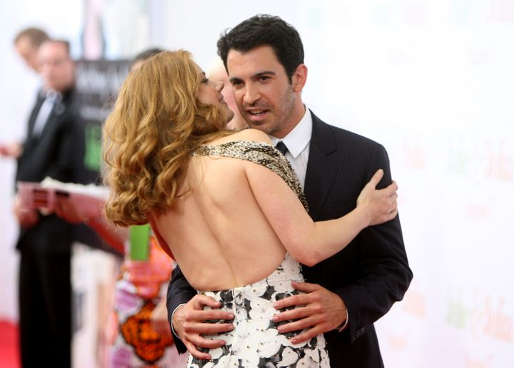 """Amy Adams and Chris Messina at the New York premiere of """"Julie & Julia"""" on July 30, 2009."""