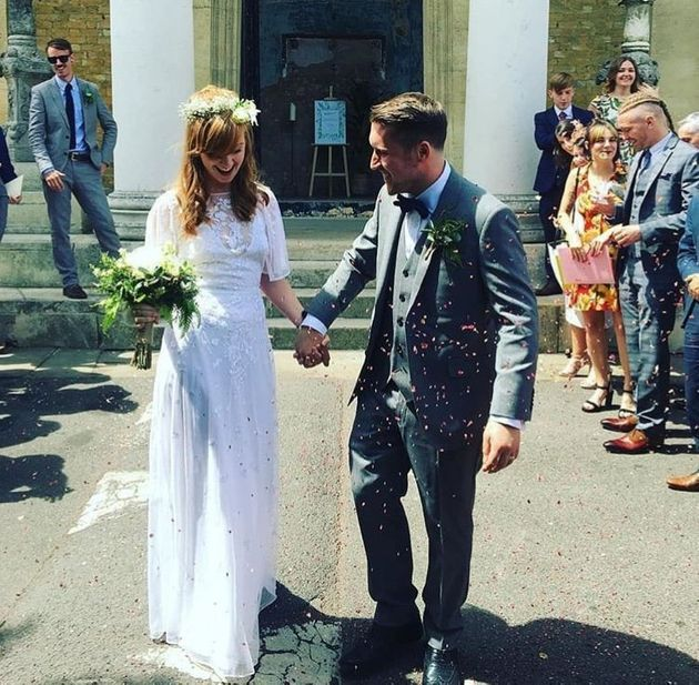 Miranda Knox, 29, and Sam Oxley, 30, from London, got married earlier this