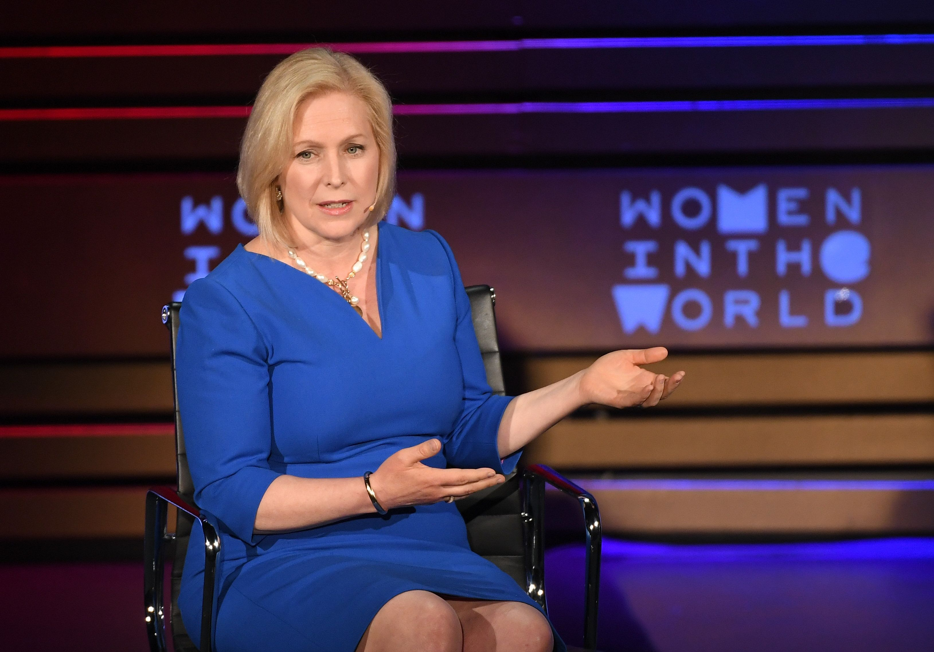 Sen. Kirsten Gillibrand (D-N.Y.) was the first senator to publicly call on her colleague, Al Franken, to resign after numerou