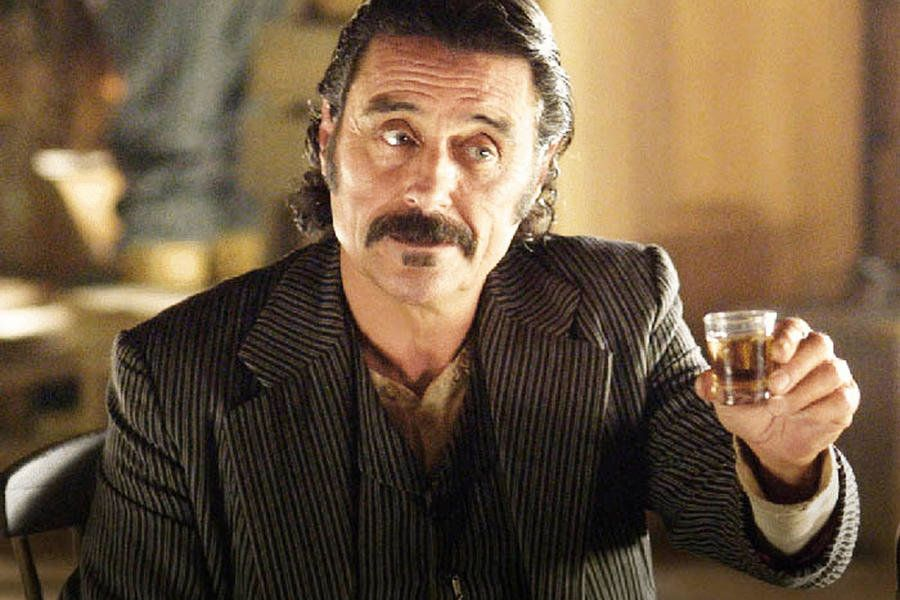 "Ian McShane in ""Deadwood."""