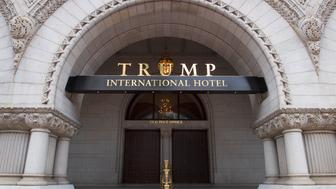 WASHINGTON, DC  - JUNE 16:  One of two entrances to the Trump International Hotel in Washington, DC on June 16, 2017.     (Photo Linda Davidson/The Washington Post via Getty Images)
