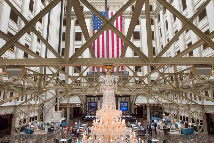 The Grand Lobby at the Trump International Hotel in Washington, D.C.