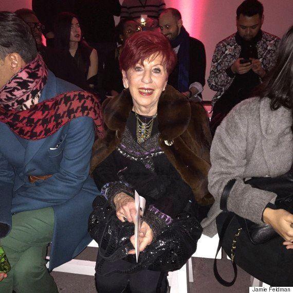 Nana sitting front row at NYFW, 2015.