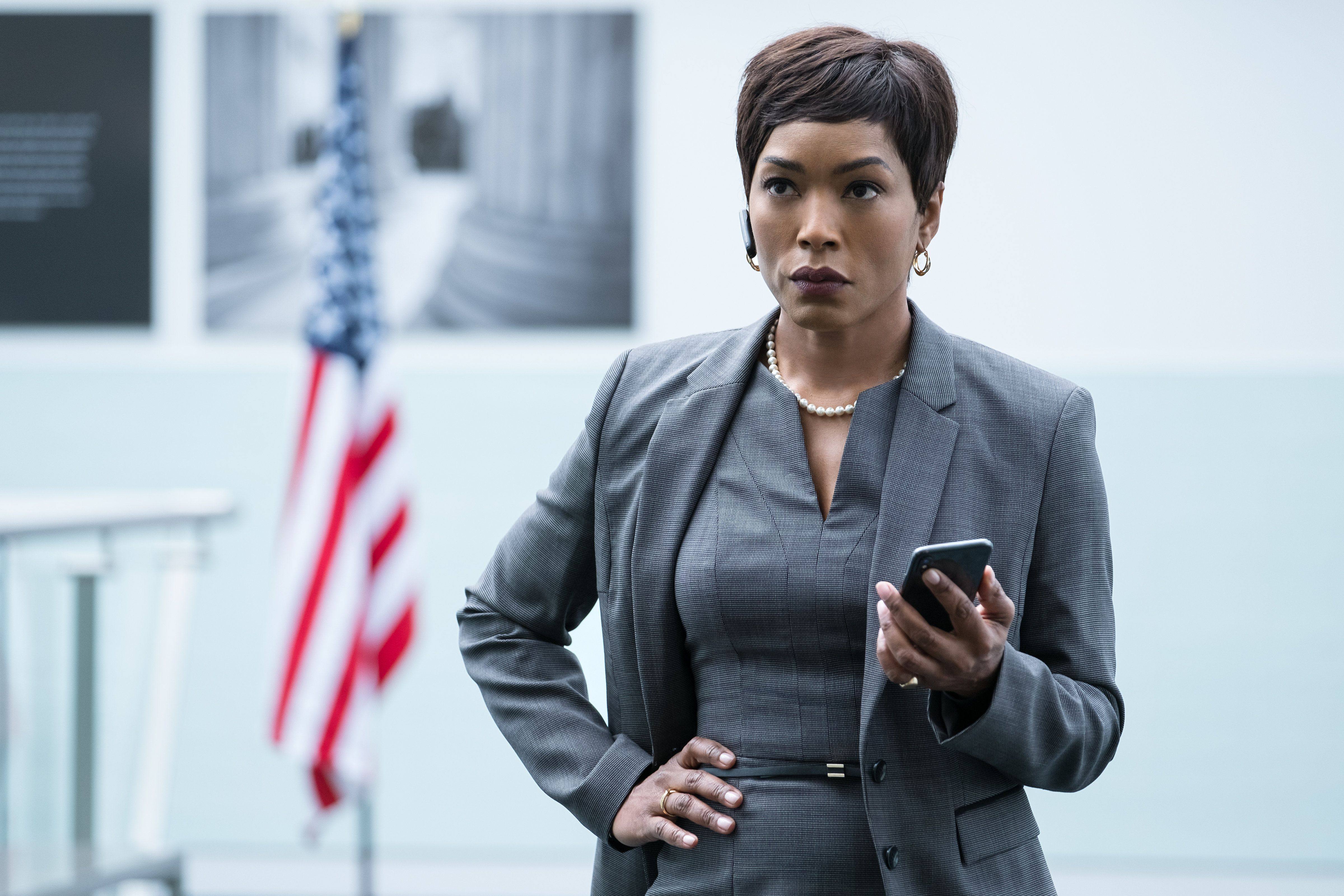 """Angela Bassett in """"Mission: Impossible - Fallout."""" The new movie contains a healthy dose of Bassett Tongue -- and some of it"""