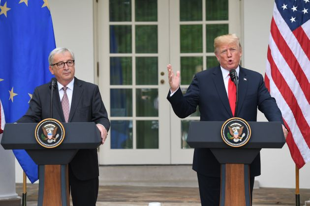 US President Donald Trump and European Commission President Jean-Claude Juncker at the White House