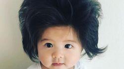 이 엄청난 머리를 가진 아기 때문에 인터넷이 지금