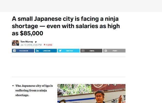 '닌자 연수입 9천500만원' 가짜 뉴스에 닌자 마을이 시달리게 된