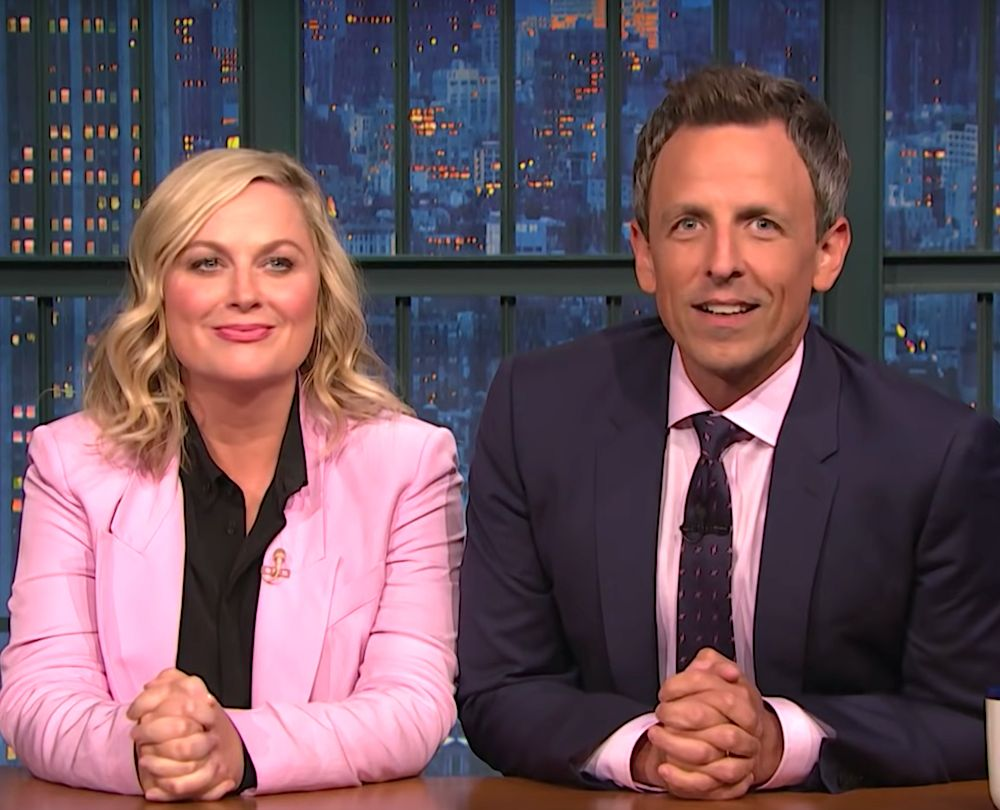 Amy Poehler and Seth Meyers