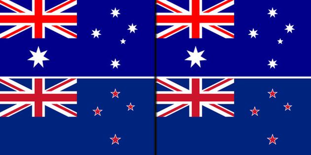 호주와 뉴질랜드가 국기를 놓고 싸우는