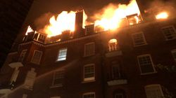 100 Firefighters Tackle Blaze At Block Of Flats In West