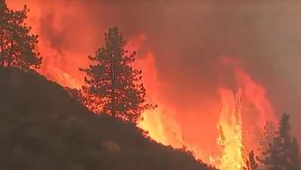 The Cranston Fire believed to have been started by arson grew rapidly to cover 4700 acres east of Los Angeles in the San Jacinto Mountains