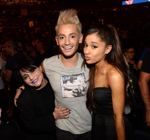 Joan Grande with son Frankie and daughter