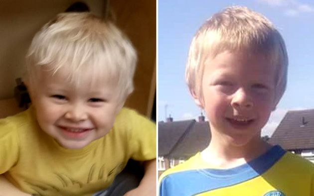 Two-year-old Casper Platt-May (left) and six-year-old Corey
