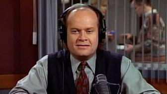 LOS ANGELES - FEBRUARY 7: Kelsey Grammar as Dr. Frasier Crane in the FRASIER episode, 'Fool Me Once, Shame on You, Fool Me Twice. . .' Original broadcast was February 7, 1995, season 2, episode 14.  Image is a screen grab.  (Photo by CBS via Getty Images)