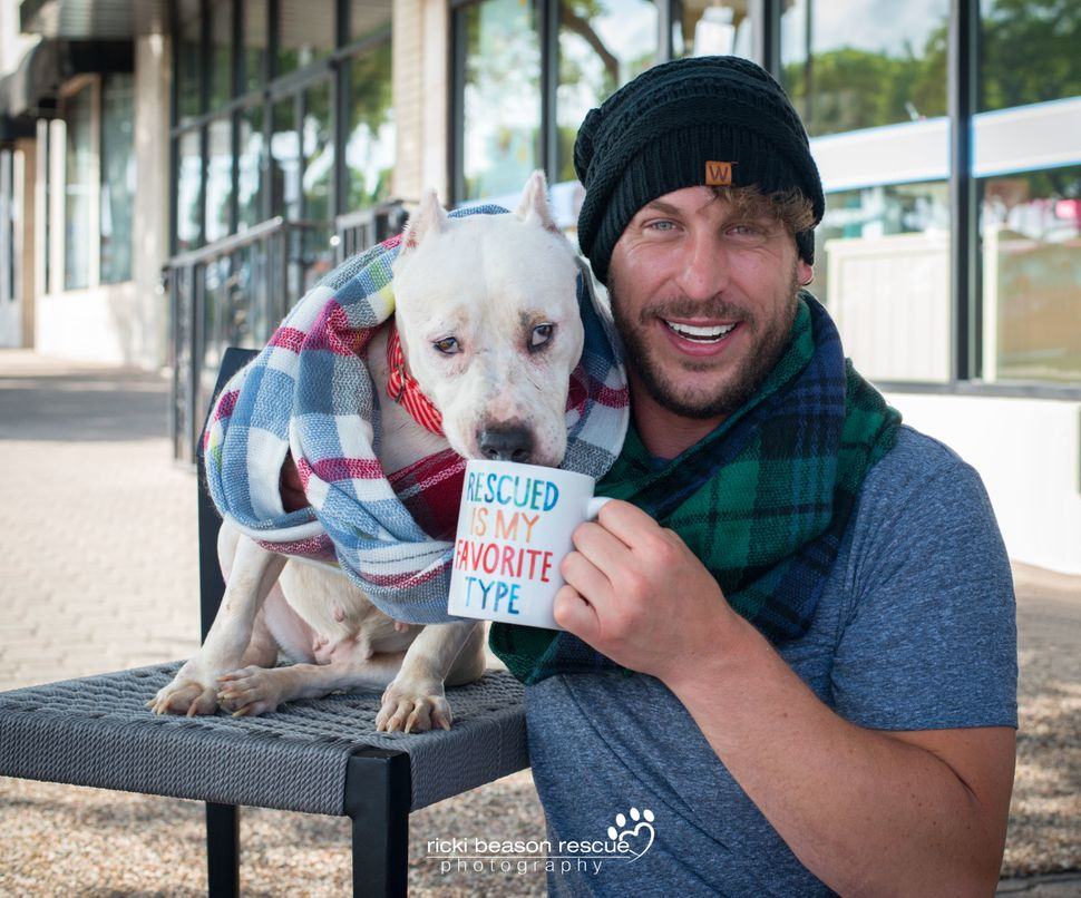 Dad bod : Jason&nbsp;&nbsp;<br>Dog: Emmie with Astasia's Angels Animal Rescue