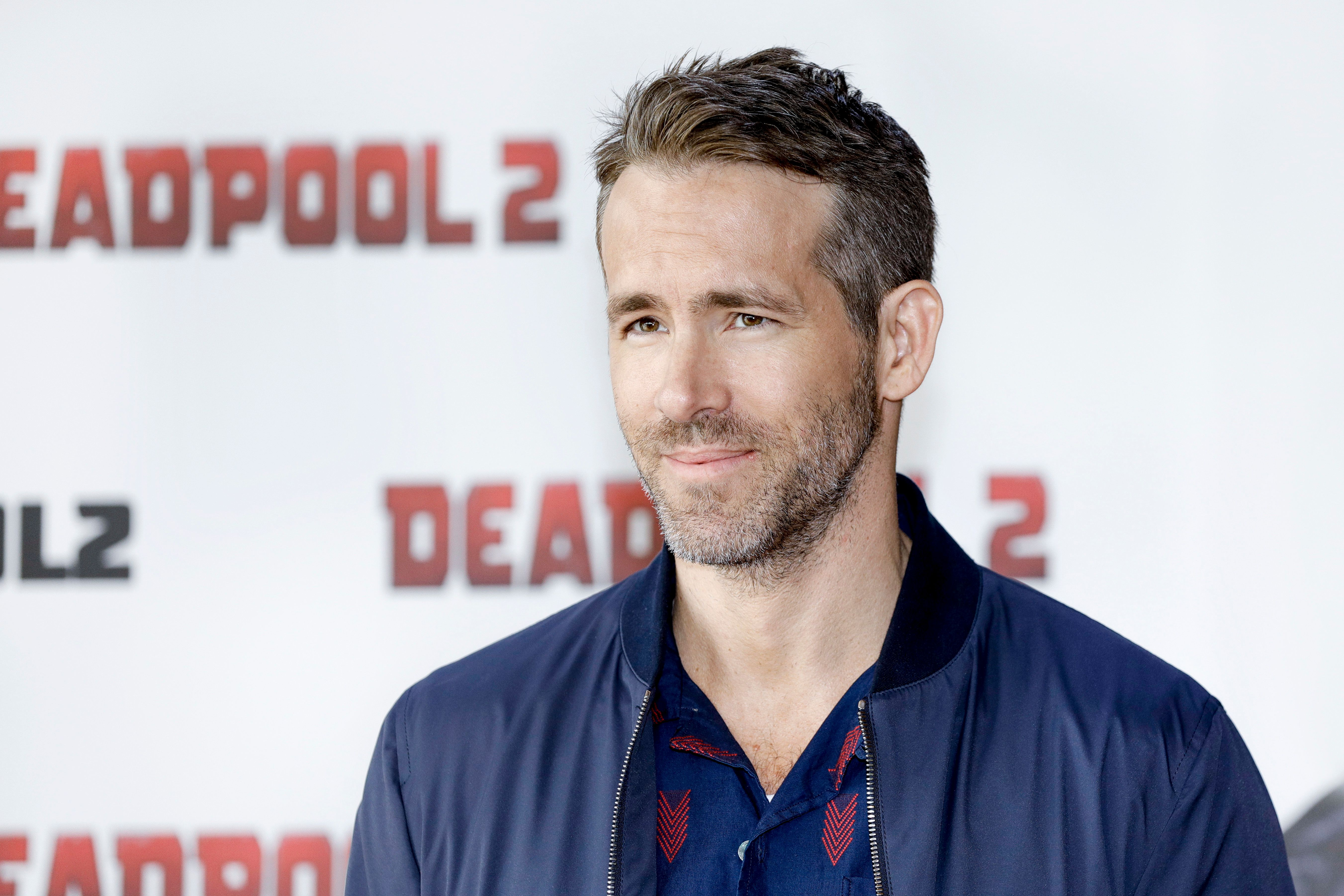 BERLIN, GERMANY - MAY 11: Canadian Actor Ryan Reynolds attends the press conference / photo call of 'Deadpool 2' at Cafe Moskau on May 11, 2018 in Berlin, Germany. (Photo by Isa Foltin/Getty Images)