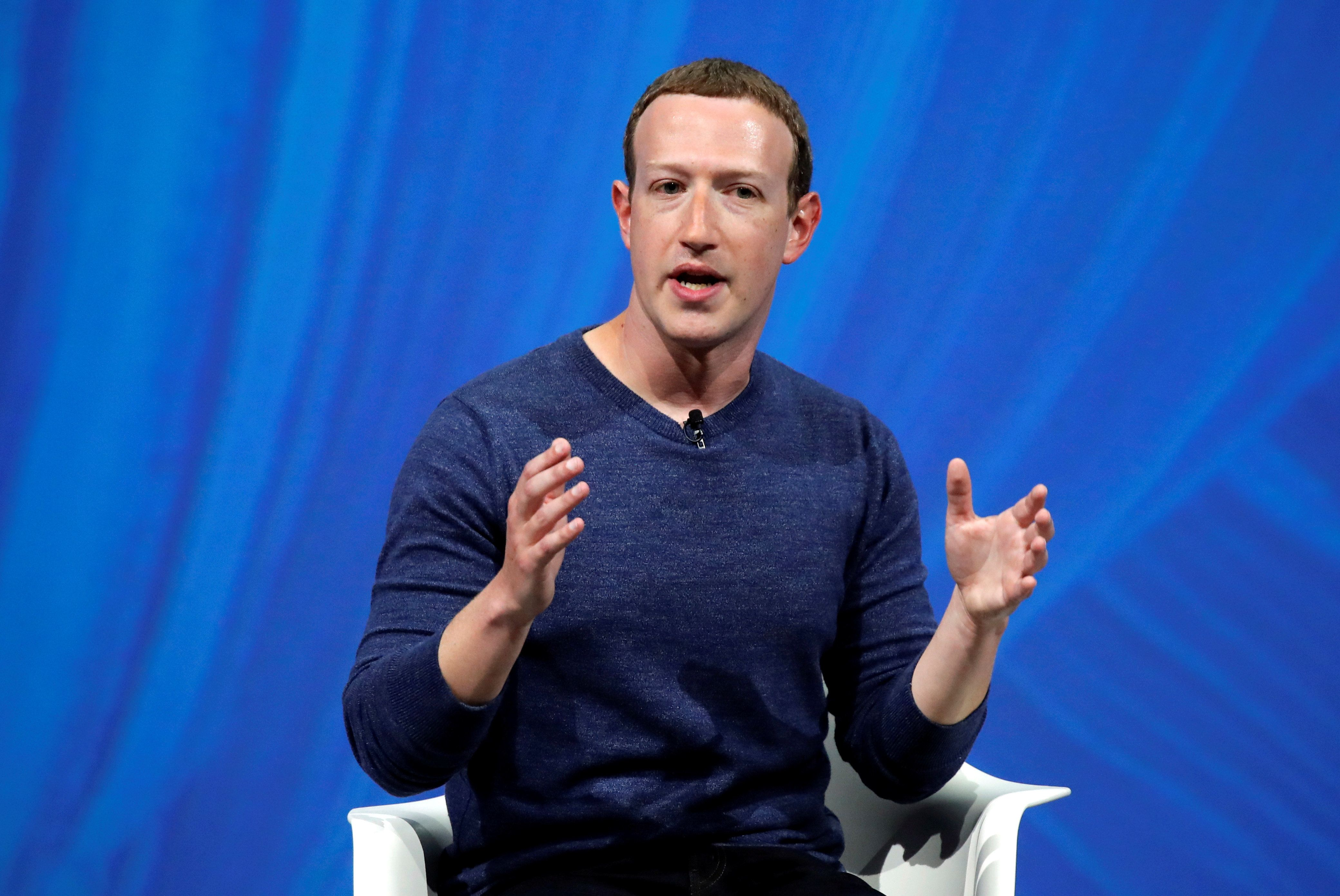 Facebook's founder and CEO Mark Zuckerberg speaks at the Viva Tech start-up and technology summit in Paris, France, May 24, 2