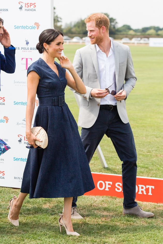 Prince Harry and Meghan, Duchess of Sussex, head off to