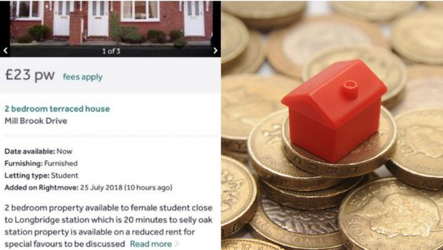 Rightmove has apologised over an advert it posted saying rent could be reduced for special