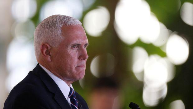 U.S. Vice President Mike Pence speaks at the Itamaraty Palace in Brasilia, Brazil June 26, 2018. REUTES/Adriano Machado