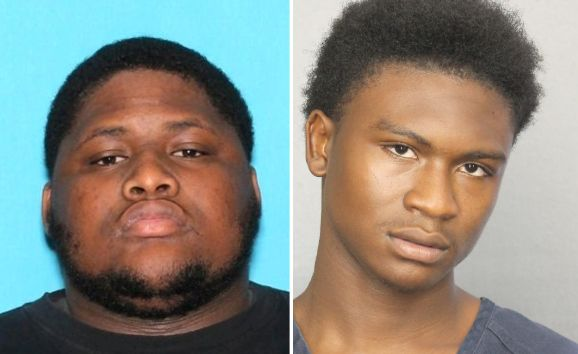 Robert Allen left was taken into custody on Wednesday in Georgia Trayvon Newsome 20 remains at large