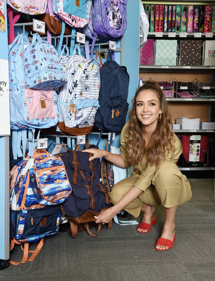 Jessica Alba is teaming up with Staples and DonorsChoose to offer scholarships and help stock classrooms with supplies.