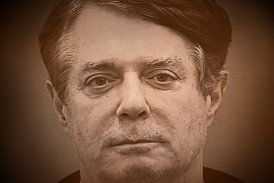 Former Trump campaign manager Paul Manafort in a booking photo from the Alexandria Sheriff's Office...