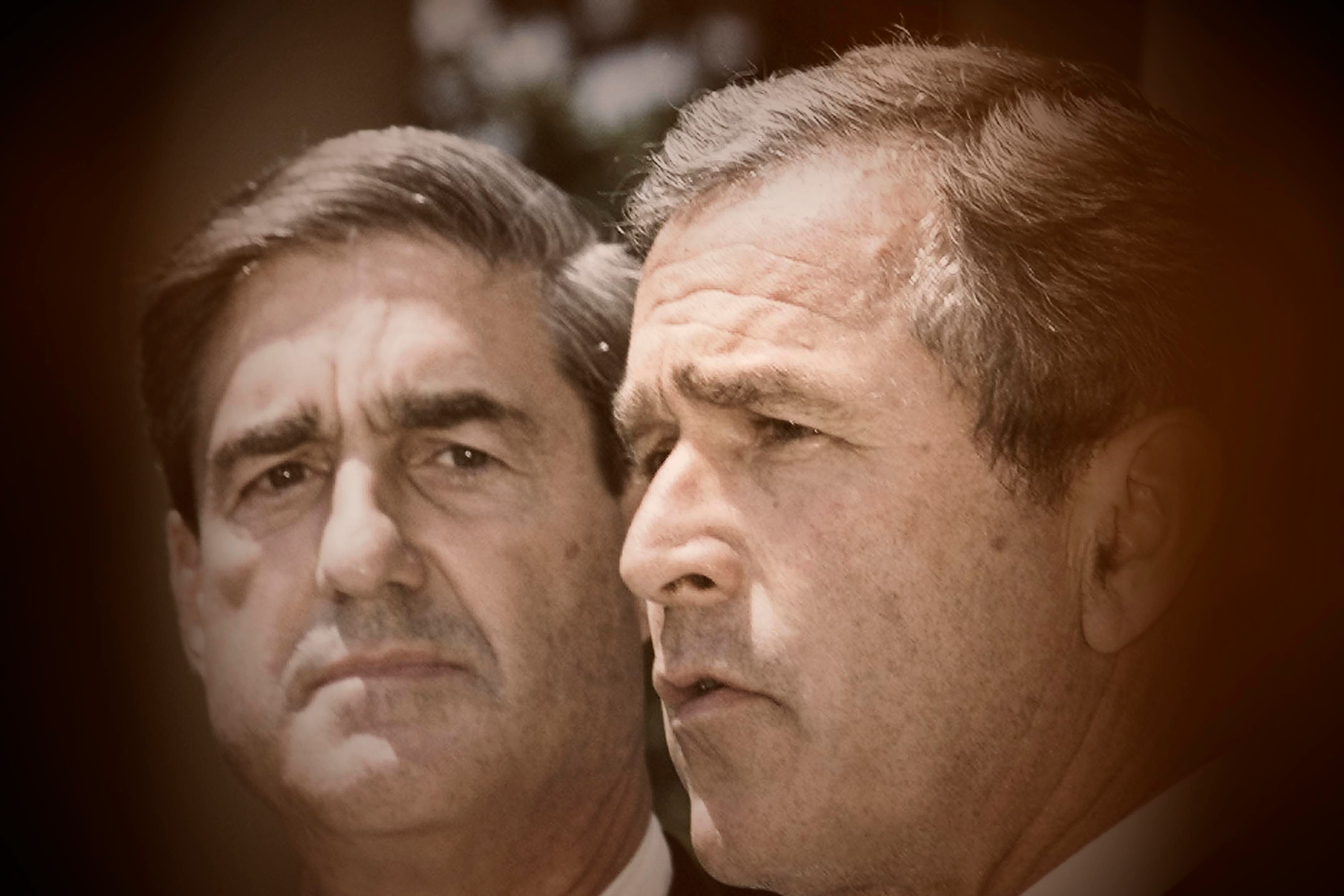 President George W. Bush, right, announced the appointment of U.S. Attorney Robert Mueller as the new FBI director on Ju