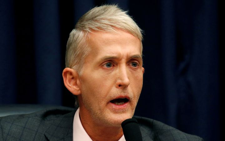 Rep. Trey Gowdy (R-S.C.) questions FBI Deputy Assistant Director Peter Strzok before the House judiciary and oversight commit