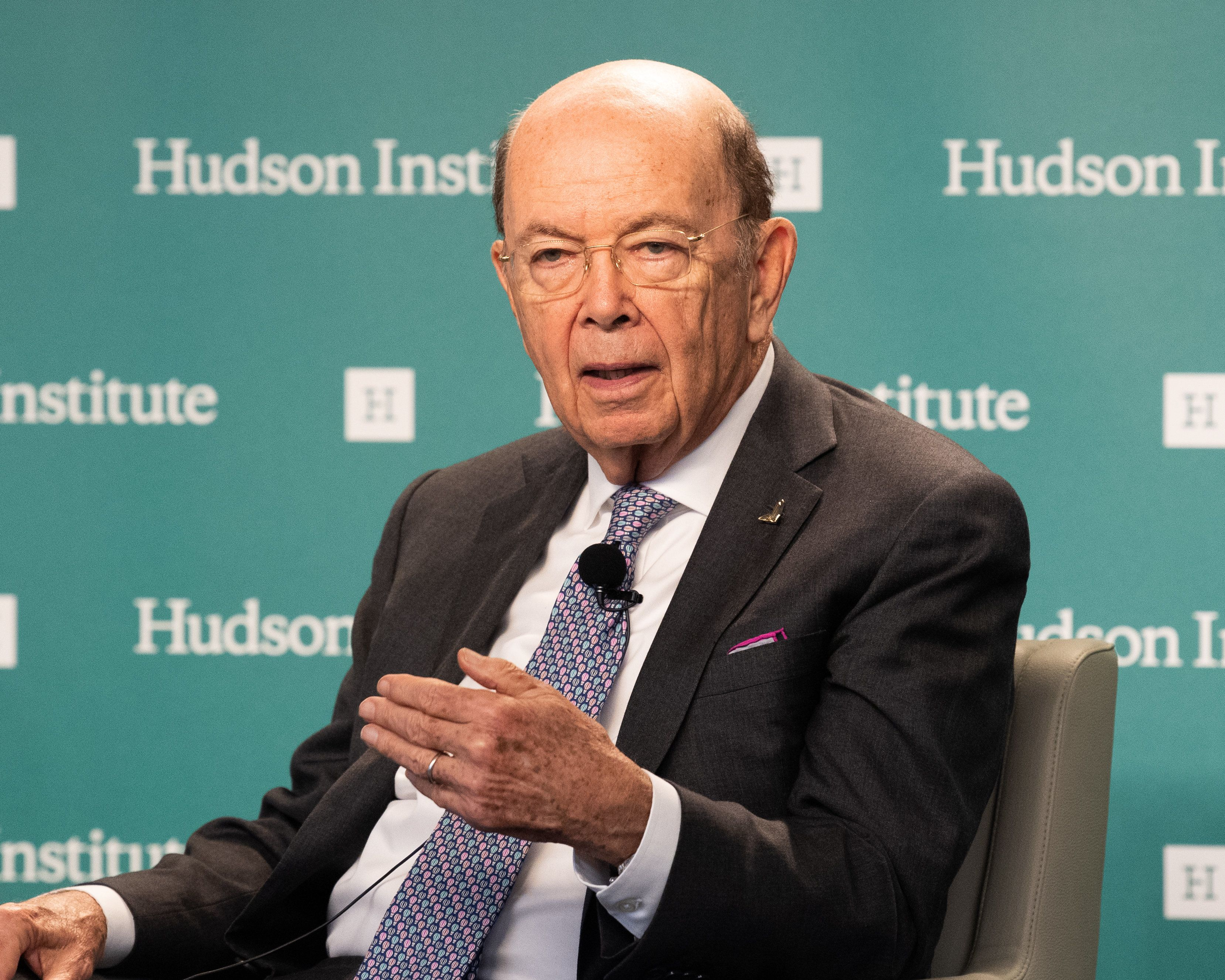 Ross speaks at theHudson Institute in Washington, D.C., two days beforecracking the joke aboard Air Force One.