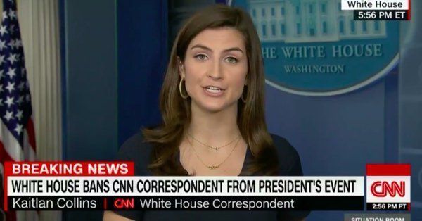 Row over CNN reporter's White House ban
