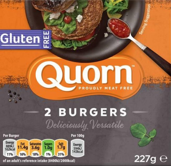 Quorn Recalls Gluten-Free Burgers Over Fears They Contain