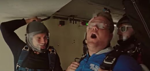 'Terrified' James Corden Is All Of Us As He Jumps Out Of A Plane With Tom