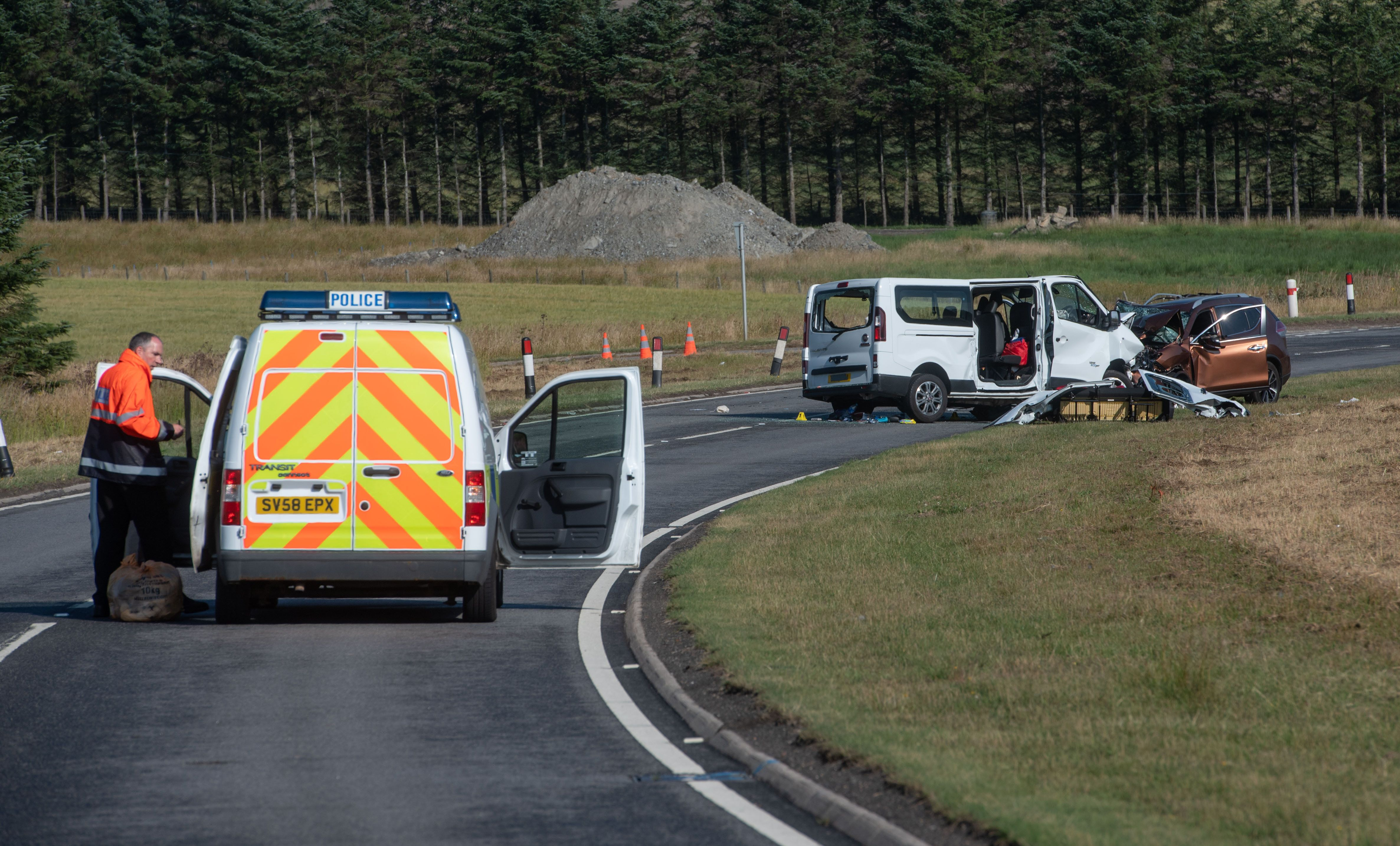 5 Dead And 5 Injured After Car And Minibus Crash On A96 In