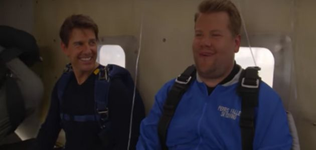 Tom Cruise and (a very nervous) James