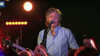 Paul McCartney played a lunchtime concert at the Cavern Club in Liverpool