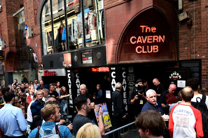 Fans flocked to The Cavern Club in Liverpool for a lunchtime concert by McCartney.
