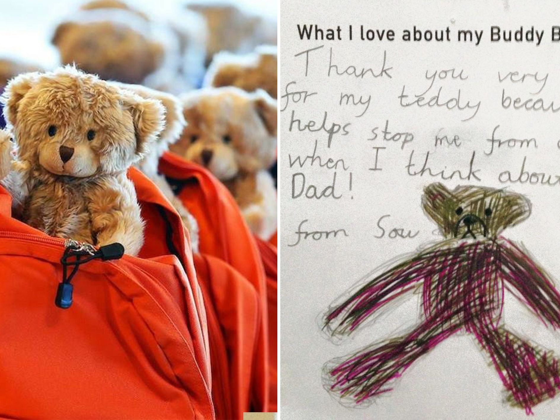 Backpacks Filled With Teddies And Books Are Providing Comfort To Kids Fleeing