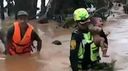 Laos Dam Collapse Video Shows Dramatic Rescue Of Four-Month-Old