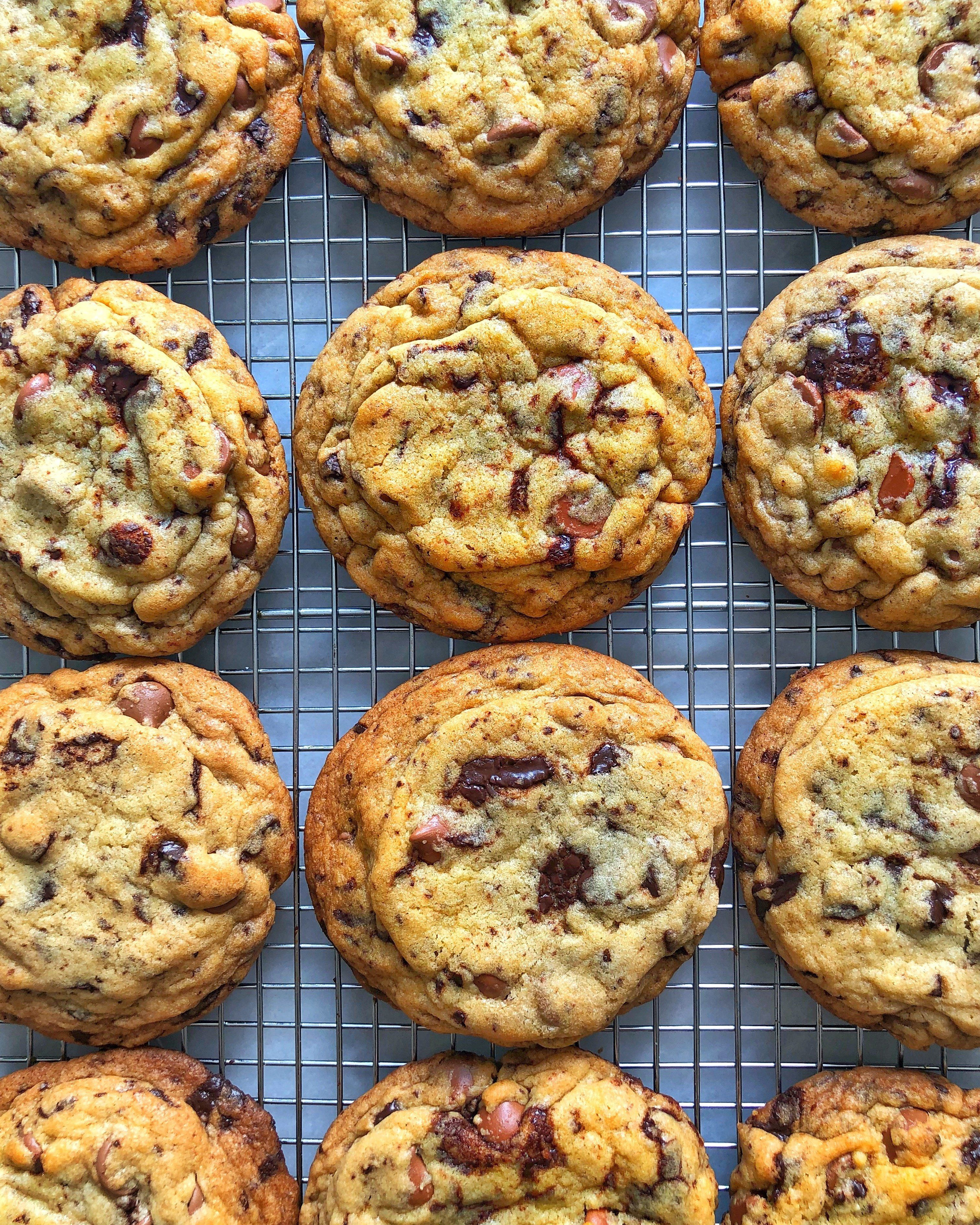 Chewy chocolate chip cookies, aka party starters.