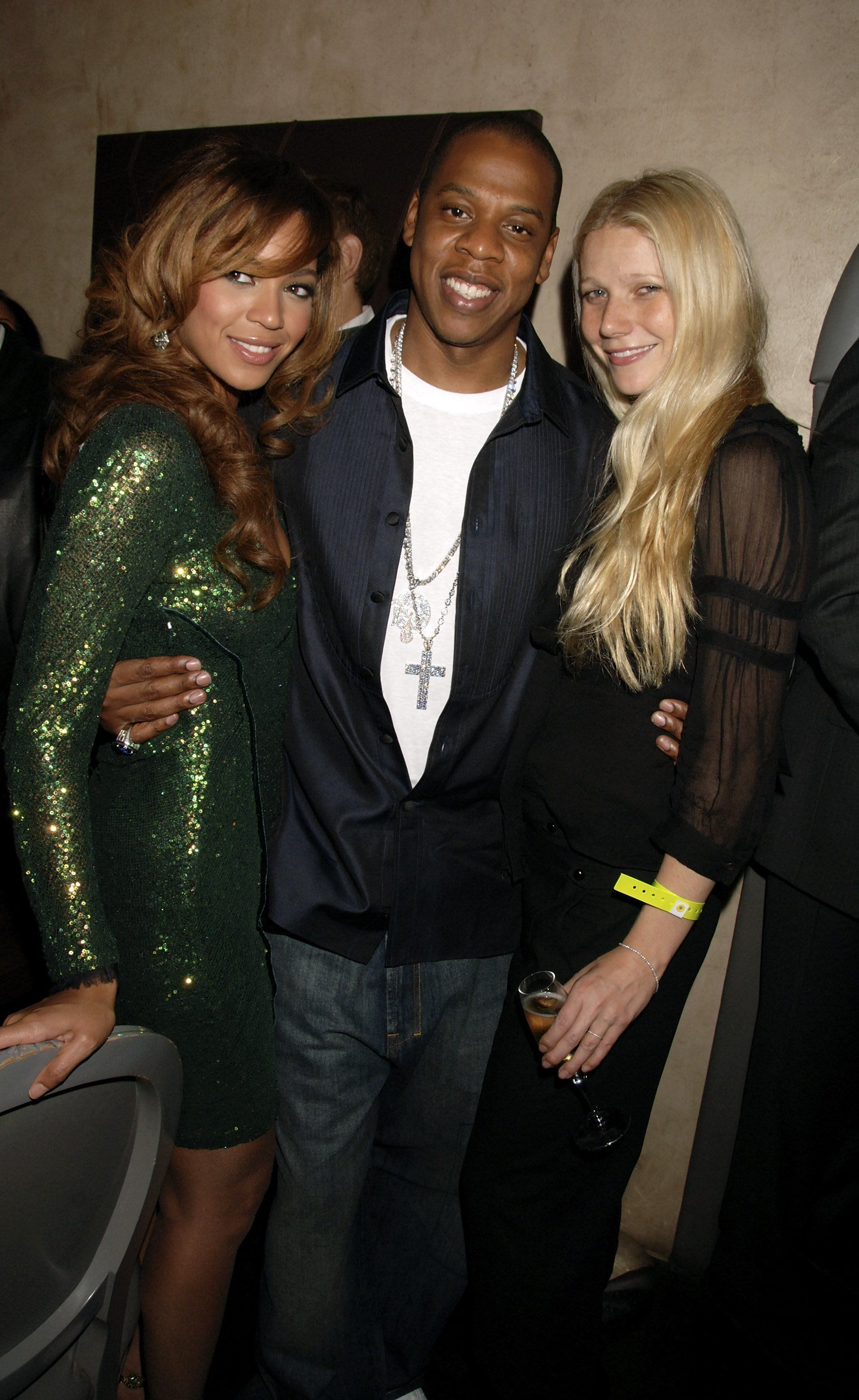 Beyonce, Jay-Z and actress Gwyneth Paltrow pictured together in