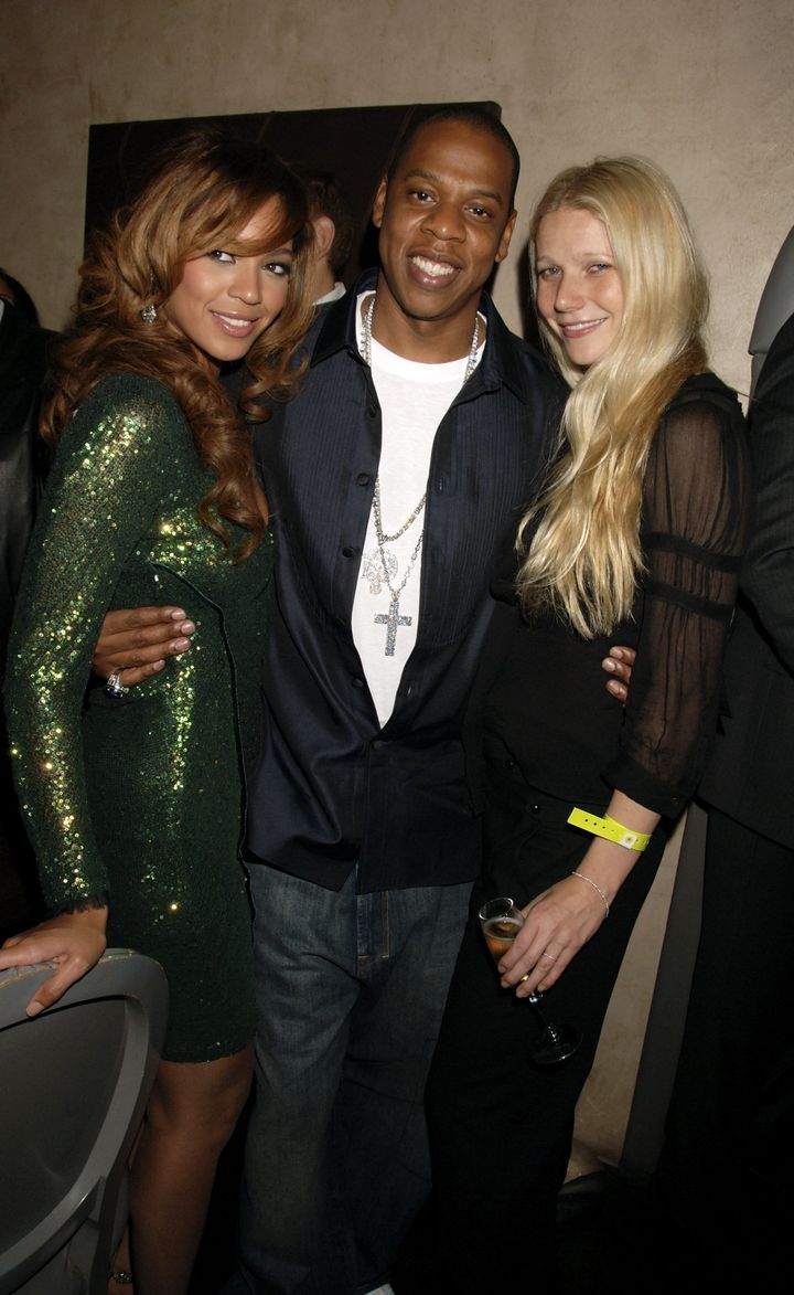 Beyonce, Jay-Z and actress Gwyneth Paltrow pictured together in 2006.