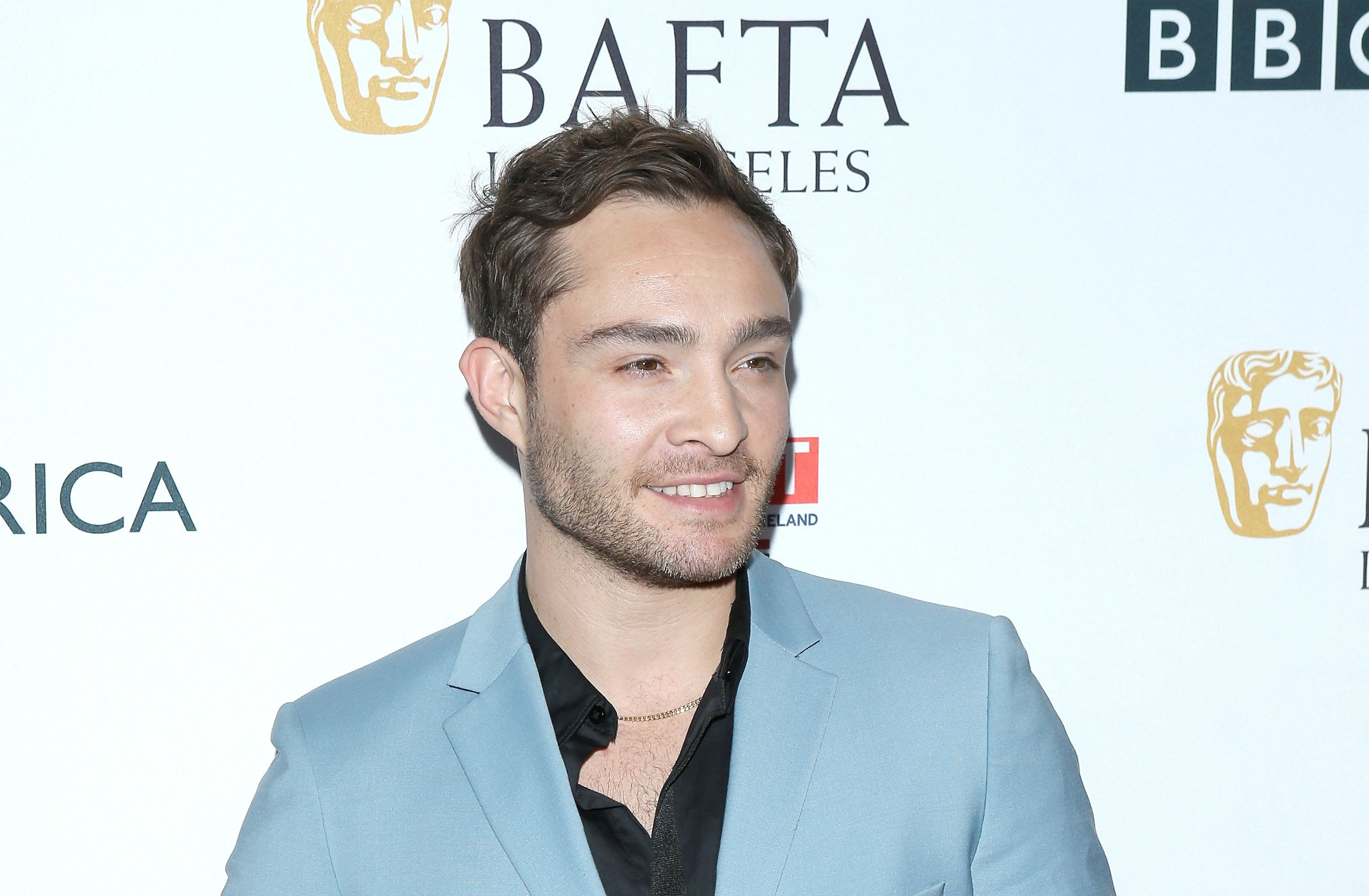 BEVERLY HILLS, CA - SEPTEMBER 16:  Ed Westwick arrives to the BBC America BAFTA Los Angeles TV Tea Party 2017 held at The Beverly Hilton Hotel on September 16, 2017 in Beverly Hills, California.  (Photo by Michael Tran/FilmMagic)