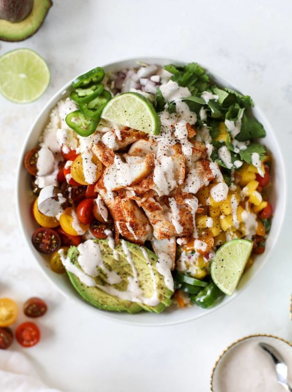 """<strong>Get the<a href=""""https://www.howsweeteats.com/2018/07/fish-taco-bowls/"""" target=""""_blank"""">Spicy Fish Taco Bowls wi"""