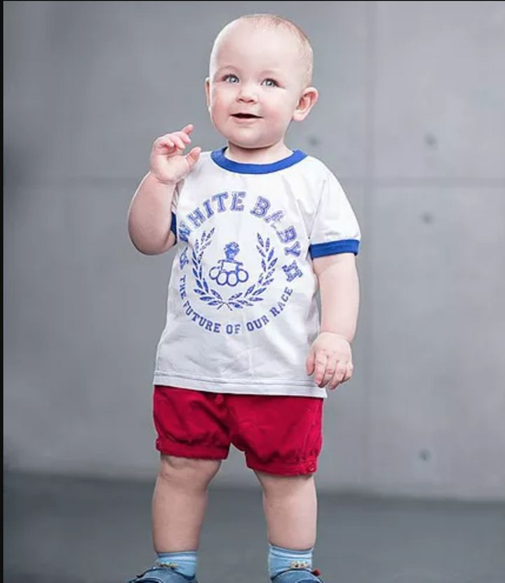 A T-shirtSva Stone is selling on its Facebook page. The brand markets a line of T-shirts for children with the slogan