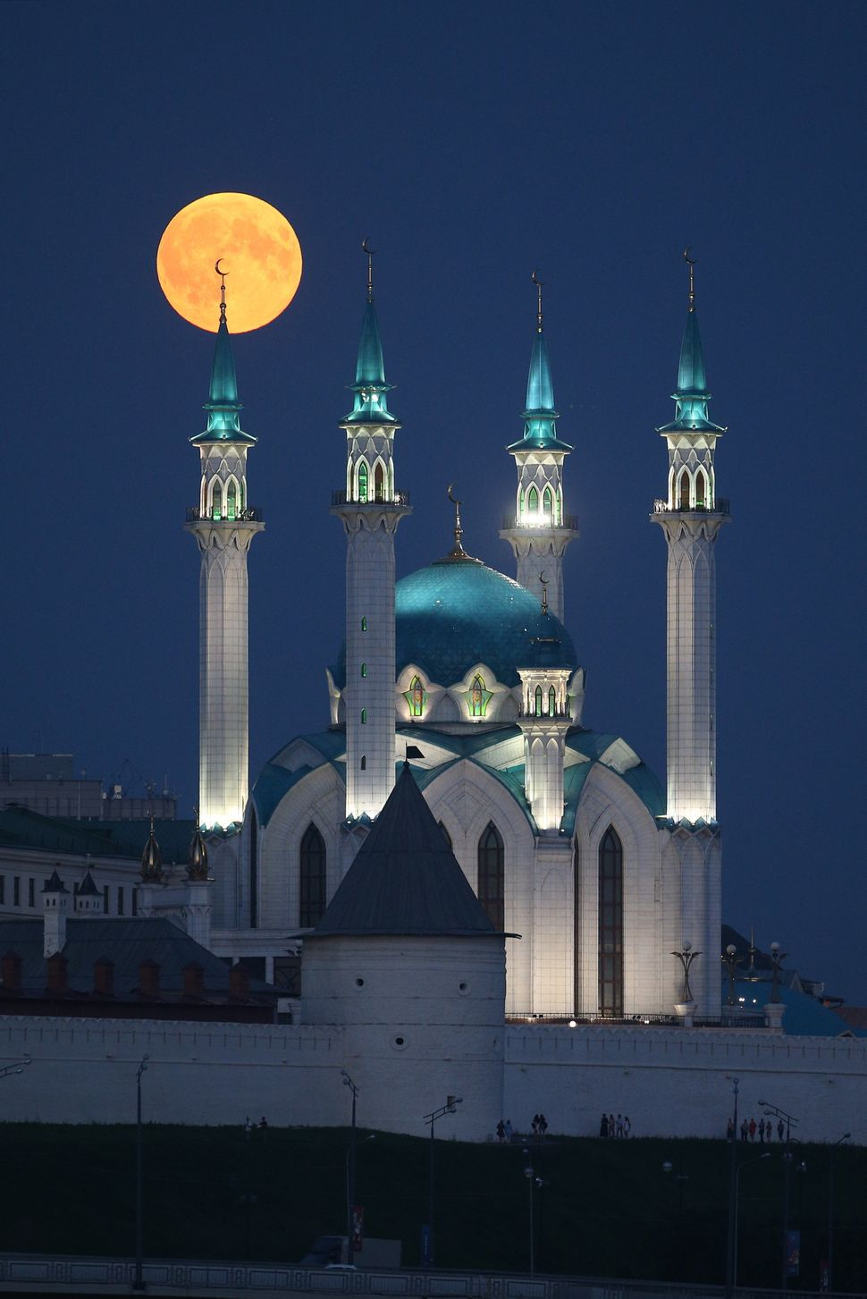 Over the Qolsharif Mosque in Kazan, Russia.