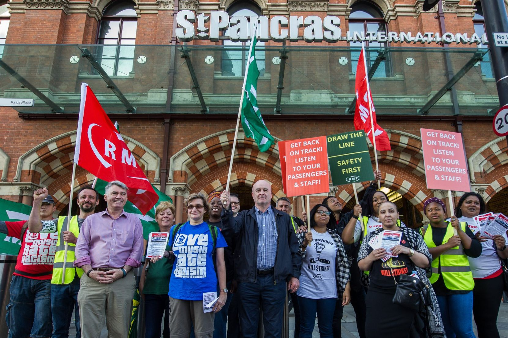 South Western Railway And Eurostar Rail Workers Stage 24-Hour Strike Amid Travel