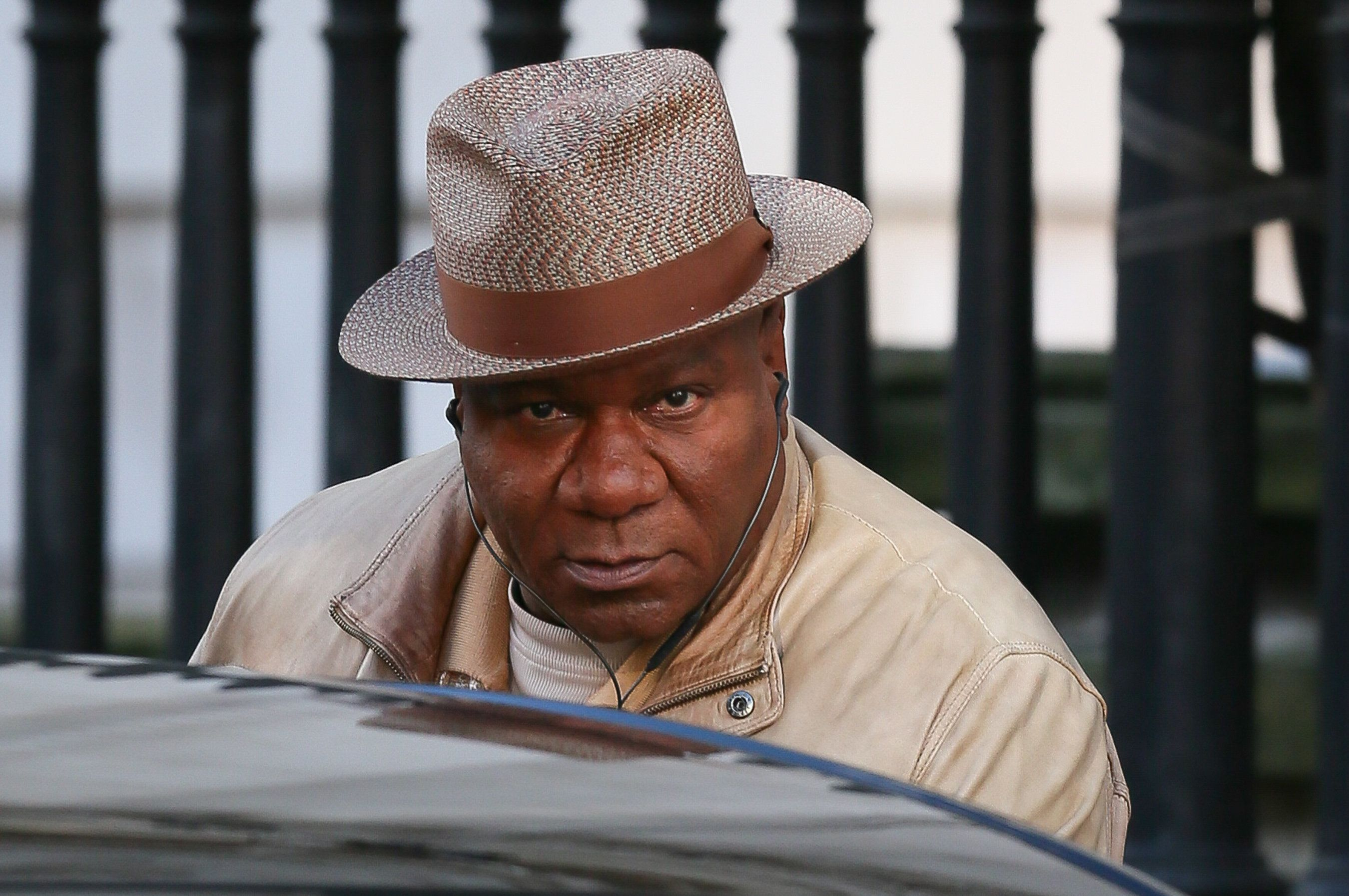 "Ving Rhames filming scenes for ""Mission Impossible 6"" in London."